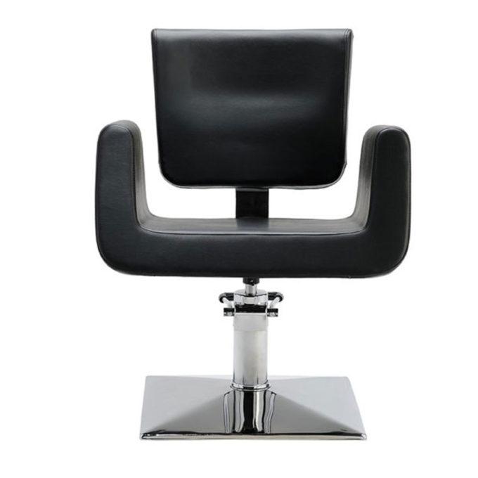 siège de coiffure skaï noir design