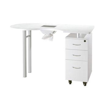 Table de manucure fonctionnelle avec tiroirs et aspirateur intégré