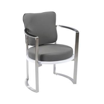 chaise d'attente pour salon de coiffure siège rond avec dossier confortable