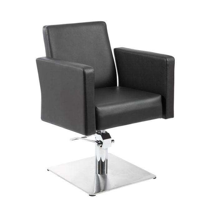 fauteuil de coiffure imo noir avec grands accoudoirs