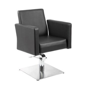 Chaise de coiffure noir avec grand dossier confortable