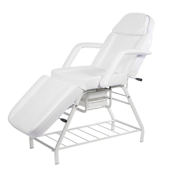 Fauteuil et lit de massage avec deux tiroirs de rangement