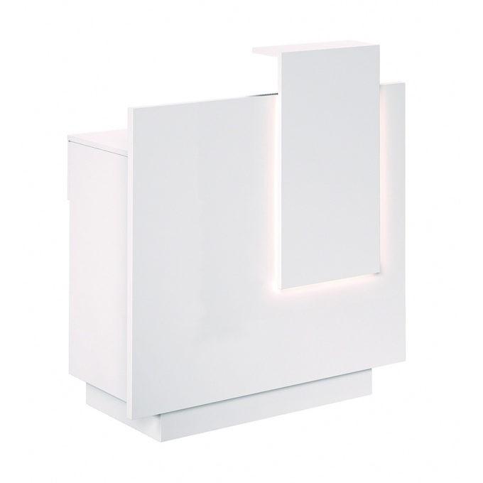 Meuble caisse éclairage LED personnalisable en trois couleur, tiroir et rangements