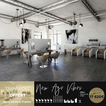 Ensemble mobiliers coiffure design organique et urbain