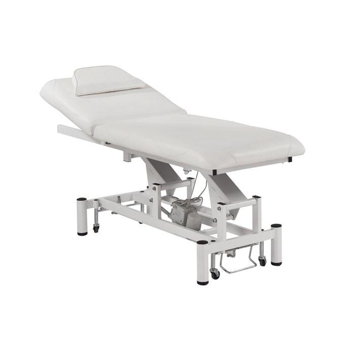 table de massage électrique blanche pour institut de beauté ou soins médicaux