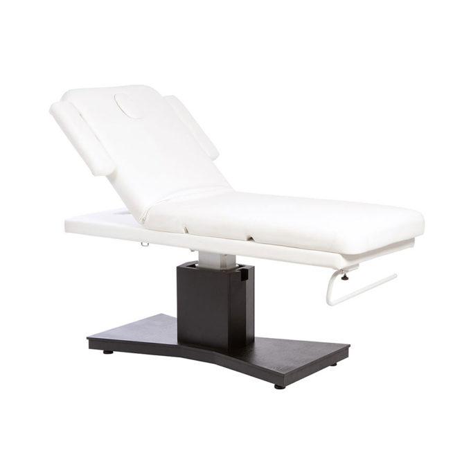 Table de massage spa et kinésithérapie noir et blanc avec réglage électrique