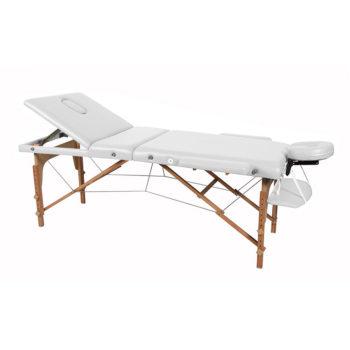 Table pliante de massage avec appuis bras et inclinaison du dossier