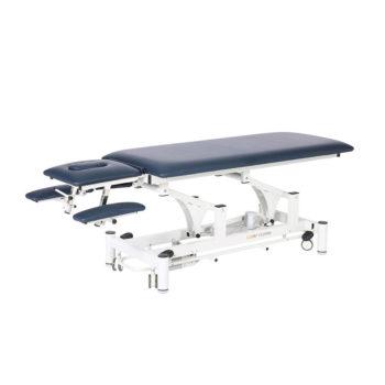 Table de massage bleu ou noir avec accoudoirs