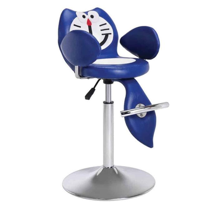 chaise enfant de coiffure en forme de chat