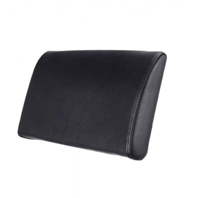Coussin pour le dos pour bac de lavage ou fauteuil de coiffure, noir en skai