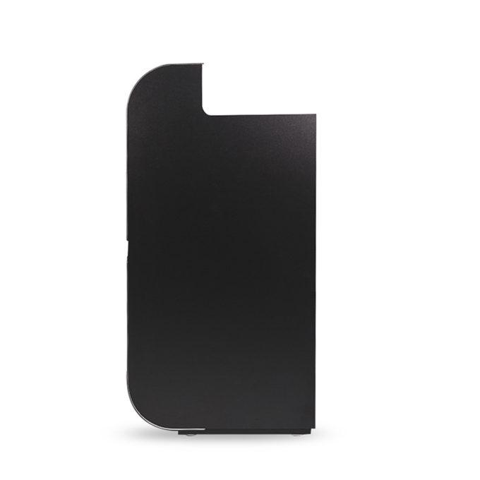 meuble caisse design futuriste noir et blanc