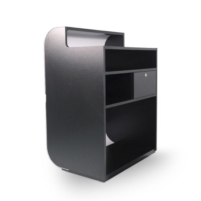 meuble caisse avec tiroir et étagère moderne et futuriste