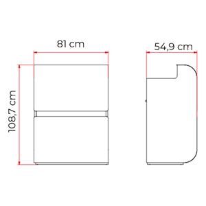 dimensions techniques meuble caisse harvey
