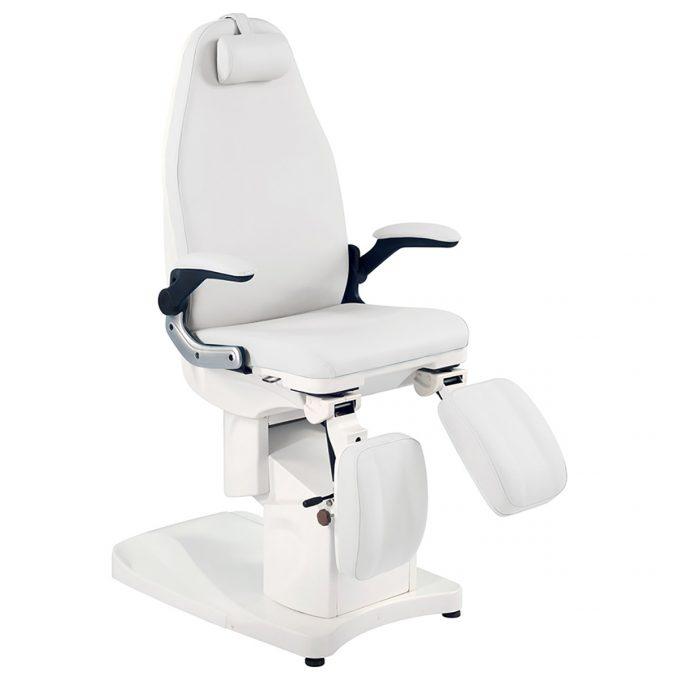 fauteuil de pédicure blanc avec moteurs