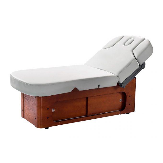 lit de massage en bois massif avec rangement par portes coulissante et réglable avec 4 moteurs fonction chauffage