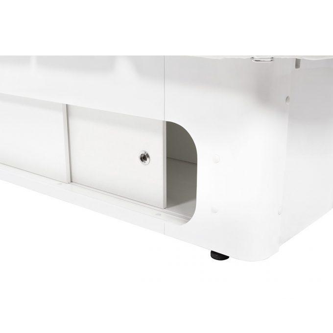 lit de massage spa, en bois avec rangement et matelas épais noir, chauffage et 4 moteurs de réglages