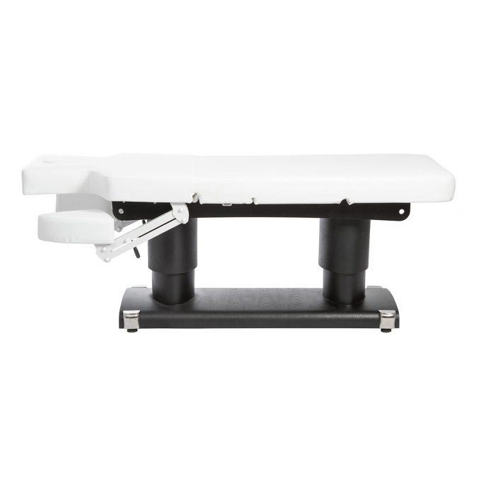 table de massage structure en noir ou blanc avec matelas épais et plusieurs positions