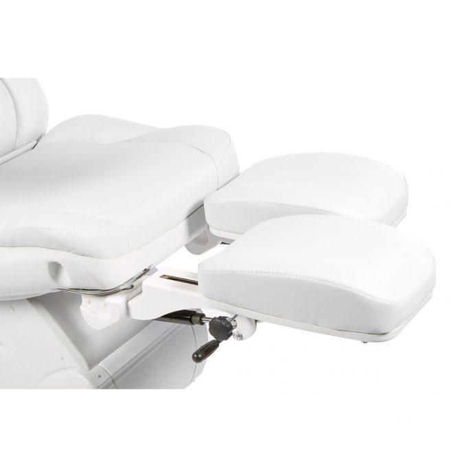 fauteuil de pédicure blanc avec jambes réglables