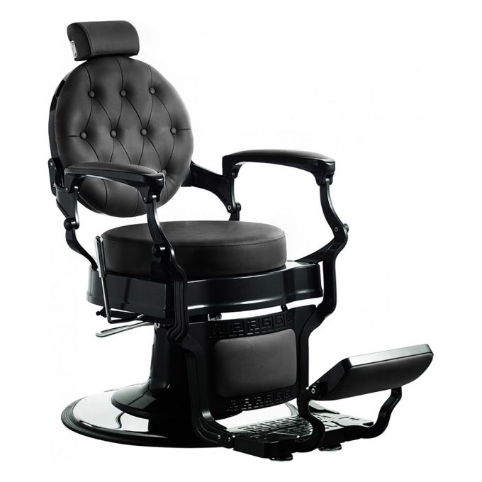 fauteuil barbier noir effet rétro et vintage