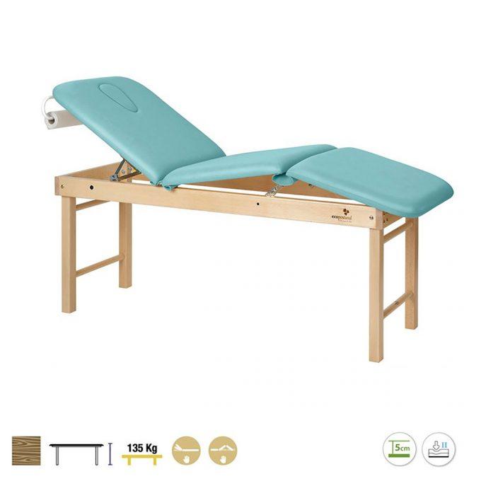 table de massage 3 plans ecpostural en bois
