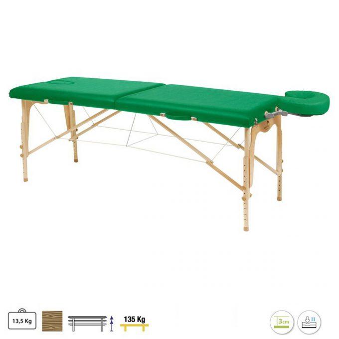table pliante ecopostural en bois pour massage et reiki