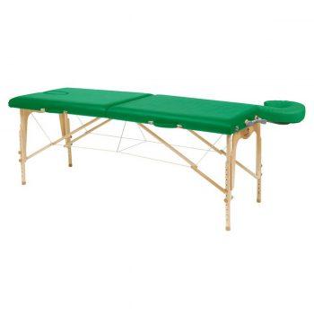 table de massage tout en bois pliante légère et robuste couleur vert bouteille