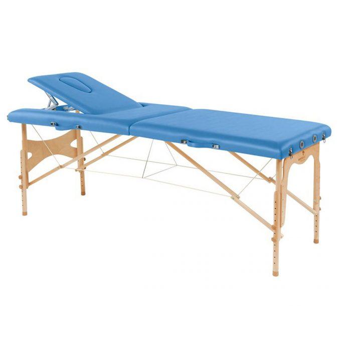 table de massage ecopostural pliable en bois avec réglage en hauteur
