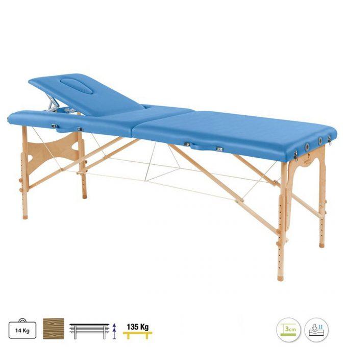table de massage pliante ecopostural réglable en hauteur et légère