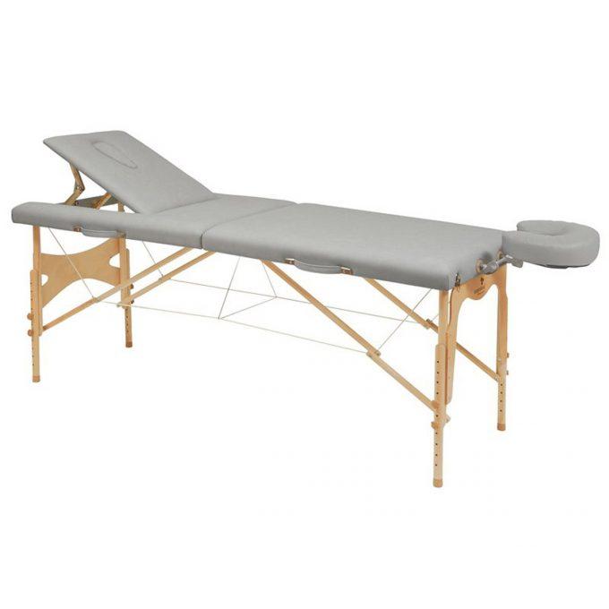 table de massage et kinésithérapie et reiki Ecopostural en bois pliante