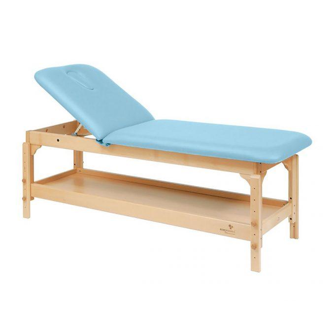 table ecopostural 2 plans fixe avec rangement bleu ciel