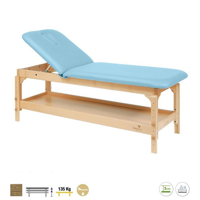 table de massage 2 plans en bois robuste avec étagère