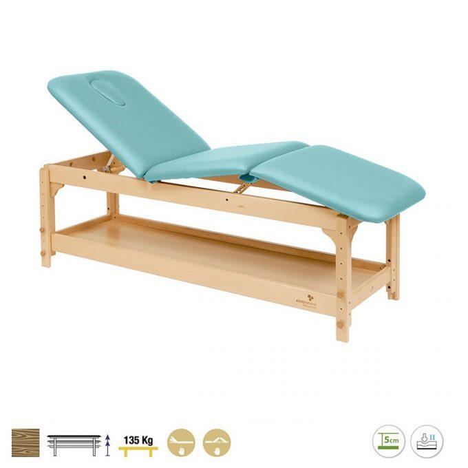 table de massage Ecopostural 3 plans avec étagère