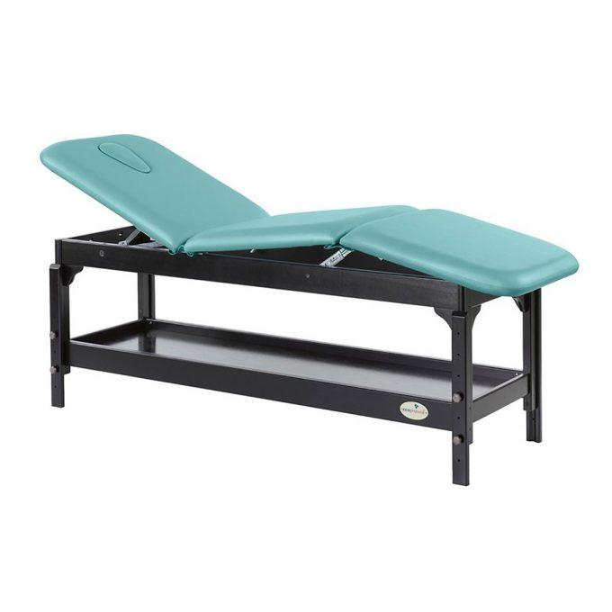 table de massage en wengé, Ecopostural, 3 plans
