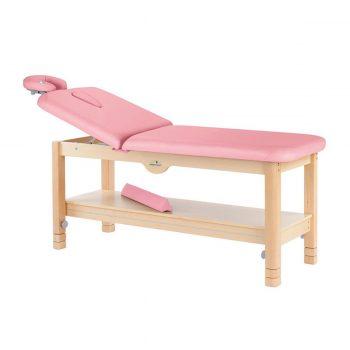 table de massage fixe à 2 plans écopostural en bois naturel