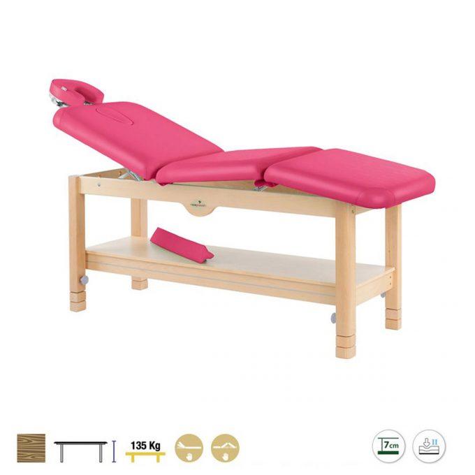 table de massage ecopostural 3 plans en bois brut