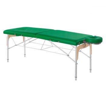 table de massage ecopostural avec panneau Reiki, structure pliante en aluminium