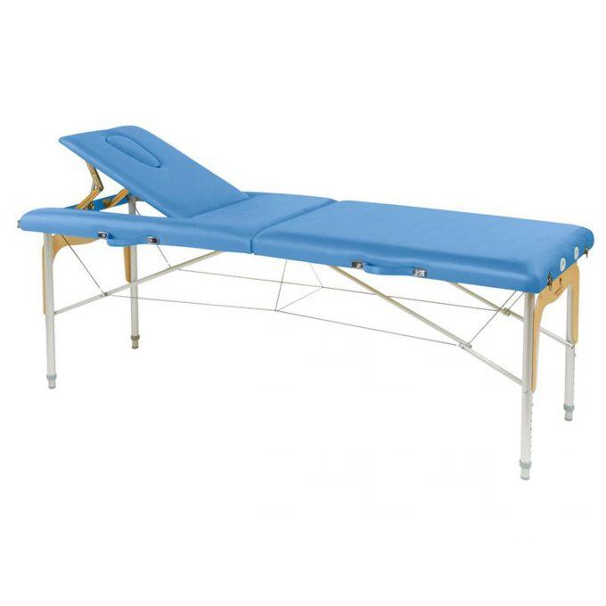 table de massage avec panneau bois reiki, pliante
