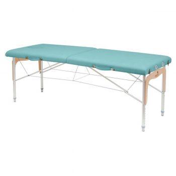 table de massage pliable avec panneau bois pour reiki, ecopostural
