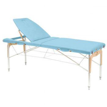 table de massage reiki pliante en aluminium et bois