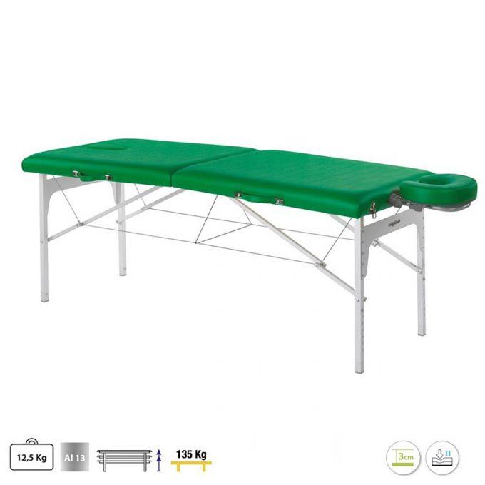 table de massage en aluminium légère pour massage et déplacement