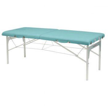 table de massage pliante légère couleur bleu sanitaire