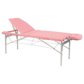 table de massage Ecopostural c3416 rose en aluminium structure pliante