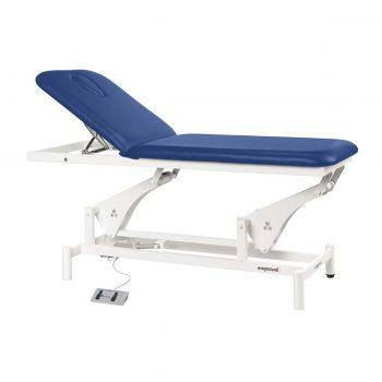 Table électrique 2 plans de massage à bielle bleu rois