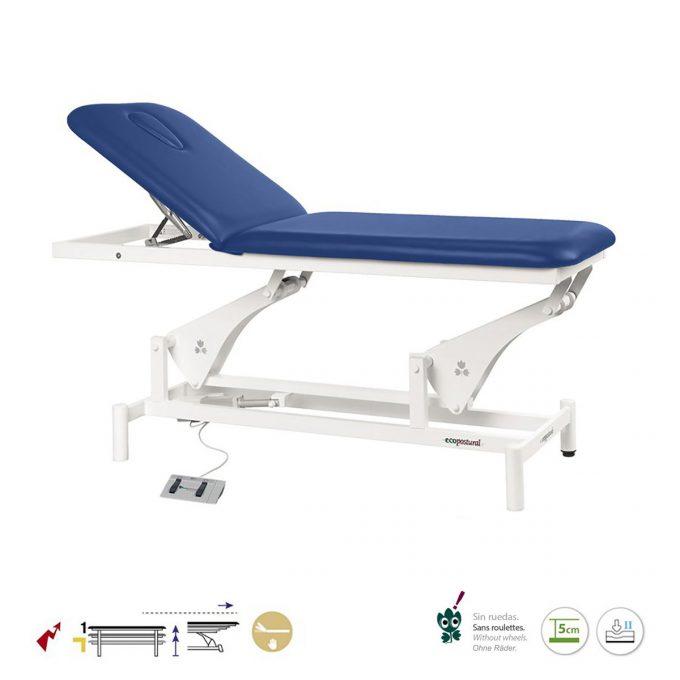 table de massage Ecopostural électrique à bielle 2 plans