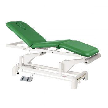 table de massage 3 plans avec moteur pour régler la hauteur, dossier et assise inclinable