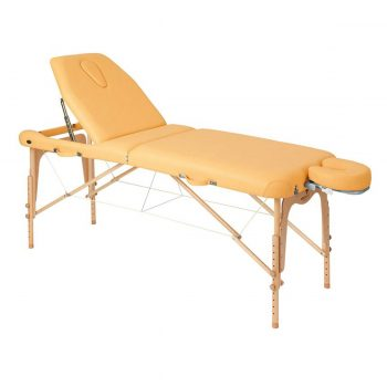 Table de massage pliante en bois robuste avec 2 têtières