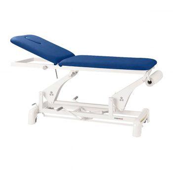 Table de massage à bielle Ecopostural réglage pompe hydraulique de la hauteur, bleu rois