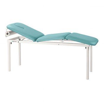 table de massage 3 plans ecopostural avec porte rouleau pieds en acier démontables