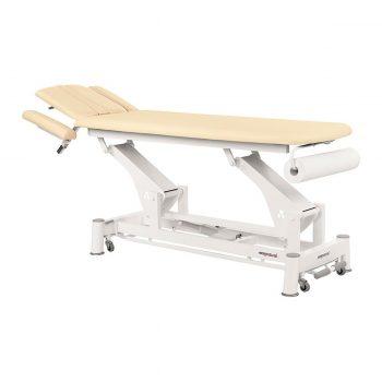 table ecopostural massage et examen médical électrique à bielle couleur crème