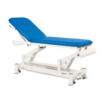 table de massage 2 plans, système périphérique avec moteur rapide, bleu